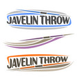 javelin throw vector image