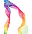 rainbow ribbon abstract shapes vector image