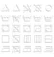 set of monochrome icons with laundry symbols vector image