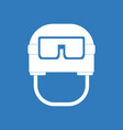 icon military helmet with goggles vector image vector image