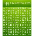 Large collection of thin universal web icon set vector image vector image