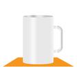 white mug vector image