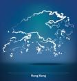 Doodle Map of Hong Kong vector image vector image