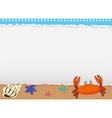 Border design with sea animals vector image