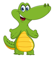 young crocodile vector image vector image