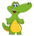 young crocodile vector image