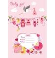 New born baby girl card shower invitation vector image