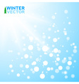 Blue winter background with flakes vector image