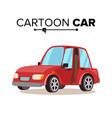 cartoon car reg flat style isolated on vector image