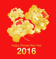 Chinese New Year Blooming Peony Flower Design vector image