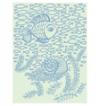 Cute cartoon hand drawn fish vector image