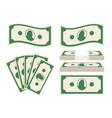 green banknotes set vector image