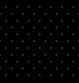 striped pattern of golden dots on black vector image