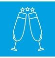 Two glasses thin line icon vector image