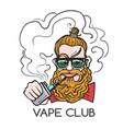 young man smoking e-cigarette vector image