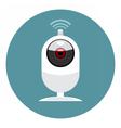 Digital white wi-fi and web camera icon vector image