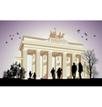 The Brandenburger Tor vector image vector image