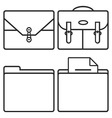 Business cases and folders vector image