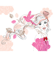 woman background vector image