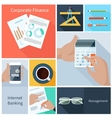 Corporate finance web banking management concept vector image