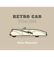 Retro cabriolet sport car vintage collection vector image