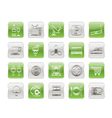 hotel and motel objects icons vector image vector image