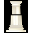 column in classic style vector image vector image