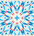 Floor tile - fantastic flower in blue and red vector image
