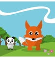 fox icon design  graphic  animal vector image