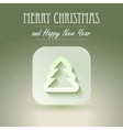 Christmas icon with paper effect vector image