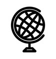 globe symbol planet earth or internet browser vector image