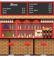 Interior of the bar with board menu vector image