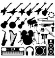Music instruments vector image