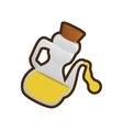 olive oil bottle cork cooking icon vector image