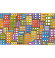 Seamless houses doodle vector image