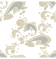 seamless pattern with hand drawing dolphin doodle vector image