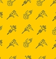 Yellow background for construction tools vector image