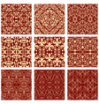 Excellent seamless floral background set of vector image