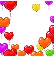 Round frame of bright and colorful heart shaped vector image