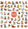 cartoon dog characters large set vector image vector image