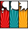 Set of speech bubbles in pop art style vector image