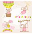 Baby Bunny Set - Baby Shower or Arrival Card vector image