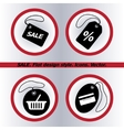 SALE tag icon  Flat design style vector image