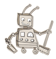 cleaning robot vector image