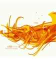 Abstract background with orange stripes vector image