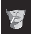 a man with a cigarette vector image