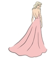 woman in pink dress vector image vector image