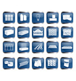Building material icon set vector image