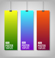 colorful paper with clips vector image