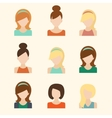 Girls Icons Set vector image